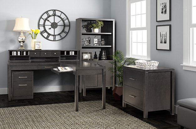Tribeca Home Office - Graphite Finish